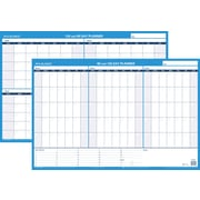 "AT-A-GLANCE® 24""H x 36"" W 90/120-Day Undated Horizontal Erasable Wall Calendar, Blue (PM239P-28)"