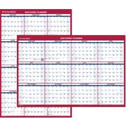 "AT-A-GLANCE® Vertical/Horizontal Erasable Wall Calendar, 12 Months, January Start, Reversible, 36""x24"" (PM26P-28-18)"
