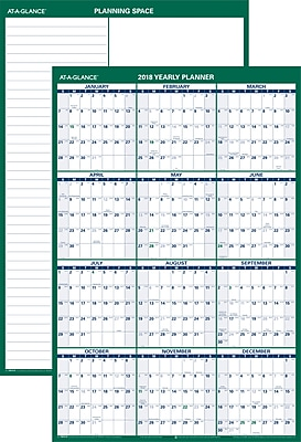 AT-A-GLANCE® Vertical Erasable Wall Calendar, 12 Months, Reversible for Notes and Planning Space, 24