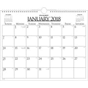 "2018 AT-A-GLANCE® 15"" x 12"" Monthly Wall Calendar, January 2018 - December 2018 Business Wirebound (997-1-18)"