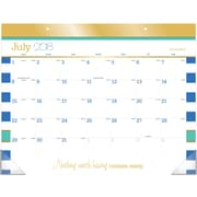 "AT-A-GLANCE® Color Pop Academic Desk Pad Calendar, 12 Months, July Start, 21 3/4"" x 17"" (D173-704A-19)"