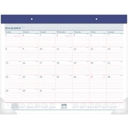 "AT-A-GLANCE® Two-Color Academic Monthly Desk Pad, 12 Months, July Start, 22"" x 17"" (AYST24-17-19)"