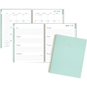 """AT-A-GLANCE® Color Bar Academic Weekly/Monthly Planner, 12 Months, July Start, 8 1/2"""" x 11"""", Mint (1123-905A-23-19)"""