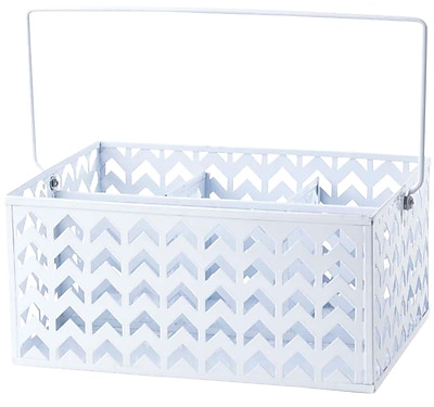 Design Ideas Chevron Storage Caddy, White (993434851)