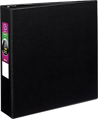 Avery Durable Binder With EZD™ Ring, Black, 540-Sheet Capacity, 2