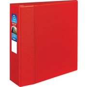 "Avery® Heavy-Duty View Binders with One Touch™ EZD® Rings, 4"", Red"