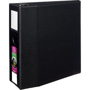 "Avery Durable EZD™ Ring Binder With Label Holder, Black, 1,050-Sheet Capacity, 5"" (Ring Diameter)"