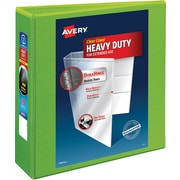 """Avery® Heavy-Duty View Binders with One Touch™ EZD® Ring, 3"""", Chartreuse"""