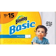 Bounty® Basic Select-A-Size Large Paper Towels, 89 Sheets/Roll, 12 Rolls/Case