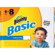 Bounty® Basic Select-A-Size Big Roll Paper Towels, 95 Sheets/Roll, 6 Rolls/Case (92981/85591)