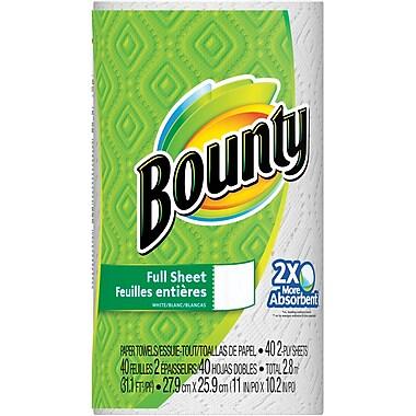 Bounty® Paper Towels, 40 Sheets/Roll, 30 Regular Rolls/Case (PGC 88275/81539)