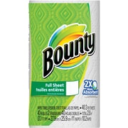 Bounty® Paper Towels, 40 Sheets/Roll, 30 Regular Rolls/Case (PGC 88275/81539)