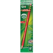Dixon Ticonderoga® Erasable Checking Colored Woodcase Pencils, Pre-sharpened, Carmine Red, Dozen