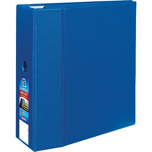 5 avery heavy duty binder with one touch ezd rings blue staples