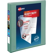 "Avery® Heavy-Duty View Binder With One Touch EZD™ Ring, Sea Foam Green, 275-Sheet Capacity, 1"" (Ring Diameter)"