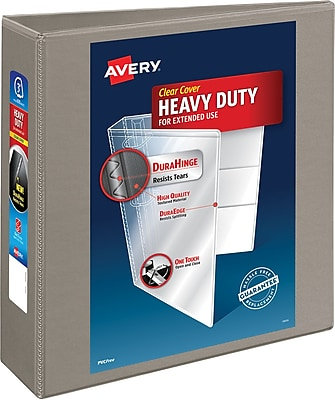 Avery® Heavy-Duty View Binder With One Touch EZD™ Ring, Sand, 670-Sheet Capacity, 3