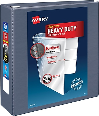 Avery® Heavy-Duty View Binders with One Touch™ EZD® Rings, 4