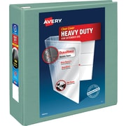 "Avery® Heavy-Duty View Binders with One Touch™ EZD® Rings, 4"", Sea Green"