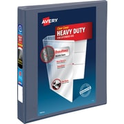 "Avery® Heavy-Duty View Binder with One Touch™ EZD® Rings, 1"", Purple"