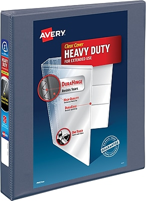 Avery® Heavy-Duty View Binder with One Touch™ EZD® Rings, 1