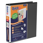 "Stride® QuickFit® 1-1/2"" D-Ring View Binder, Black"