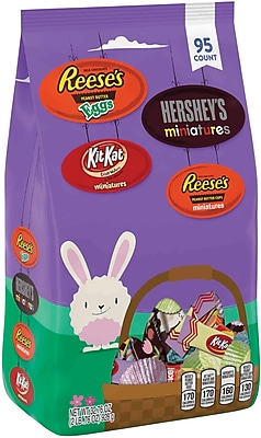 Hershey's Easter Spring Favorites Snack Size Assortment, 95 Count, 32.76 oz 2071456