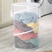 "Whitmor Collapsible Laundry Hamper, 26""H x 15""W x .25""D (6233-1170-Wht)"