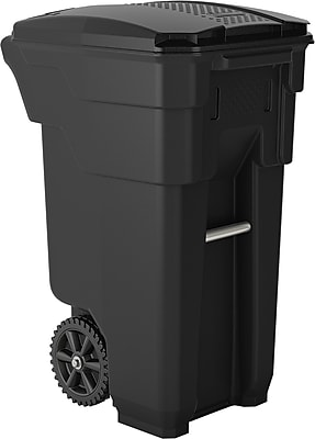 Suncast Commercial Wheeled Trashcan, 32 Gallon, Gray (BMTCW32)