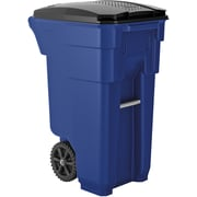 Suncast Commercial Wheeled Trashcan, 32 Gallon, Blue (BMTCW32BL)