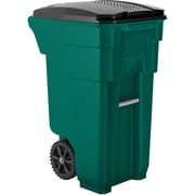 Suncast Commercial Wheeled Trash Can, 32 Gallon, Green (BMTCW32G)