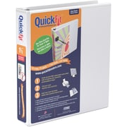 "Stride® QuickFit™ View Binder with Round Rings, White, 275-Sheet Capacity, 1-1/2"" Ring"