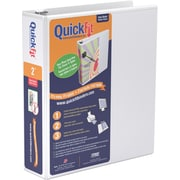 """Stride® QuickFit™ View Binder with Round Rings, White, 600-Sheet Capacity, 3"""" Ring"""