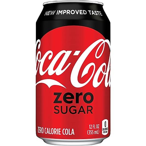 Coca-Cola Zero®, 12 oz. Cans, 24/Pack   Staples