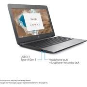 "HP X7T64UA 11.6"" Chromebook, LCD, Celeron N3060 1.6 GHz, 16GB, 4GB, Chrome, Ash Gray/Anodized Silver"
