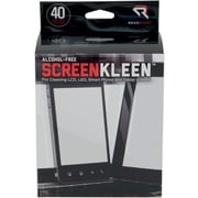 """Read Right  Alcohol-Free ScreenKleen Wipe, Unscented, 5""""(W) x 5""""(L), 40 Twin Packs/Box"""