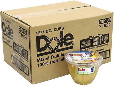 Dole Mixed Fruit in 100% Fruit Juice Cups, 7 oz, 12 Count (209-02549) 24289078