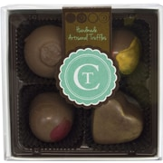 Chocolate Therapy 4-Piece Assorted Milk Chocolate Truffles Gift Box (209-02558)
