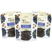 7th Street Confections Dark Chocolate Thins Blueberry & Almond, 4.7 oz, 3 Pack (209-02563)