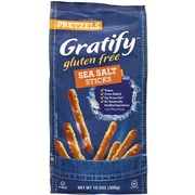 Gratify Gluten-Free Sea Salt Pretzel Sticks, 10.5 oz, 6 Pack (209-02571)