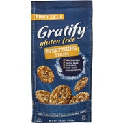 Gratify Gluten-Free Everything Pretzel Thins, 10.5 oz, 6 Pack (209-02574)