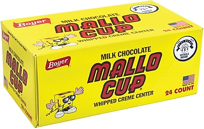 Boyer Mallo Cup Milk Chocolate Box, 1.5 oz, 24 Count (209-02577) 24289207