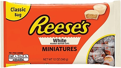 REESE'S White Peanut Butter Cups Miniatures, 12 oz, 3 Pack (246-01154) 24289147