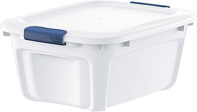 Bella Storage Solution® Bella Board 11.8 Quart Dry Erase Storage Tote, White (601136)