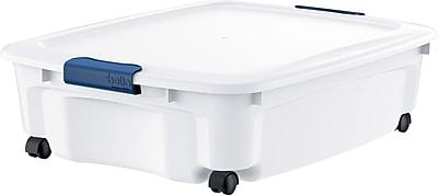 Bella Storage Solution® Bella Board 35.7 Quart Dry Erase Storage Tote, White (601138)