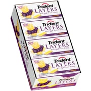 Trident Layers Gum Grape & Lemonade, 14-Piece, 12 Count (304-00056)