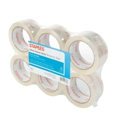 "Staples® Ultra Heavy Duty Shipping Tape, 1.88"" x 54.6 Yds, Clear, 6/Rolls"