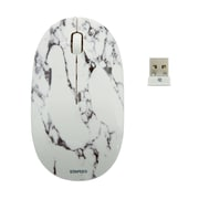 Staples Wireless Optical Mouse, Marble