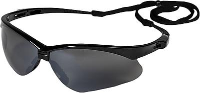 Jackson® Nemesis Safety Glasses, Polycarbonate, Smoke-Mirror, Black