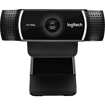 Logitech C922 Pro Stream 1080p HD Webcam, Black (960-001087)