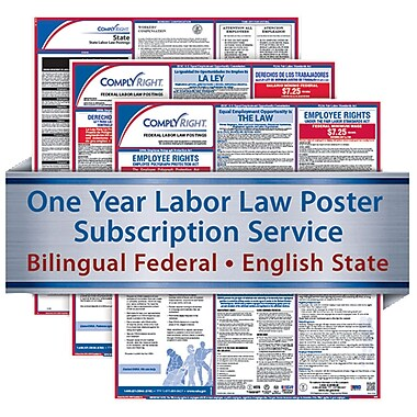 ComplyRight 1 Year State & Federal Poster Service, Maryland--Bilingual Fed & Eng State Posters
